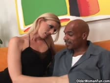 Blondie soccer milf trashed by large chisel